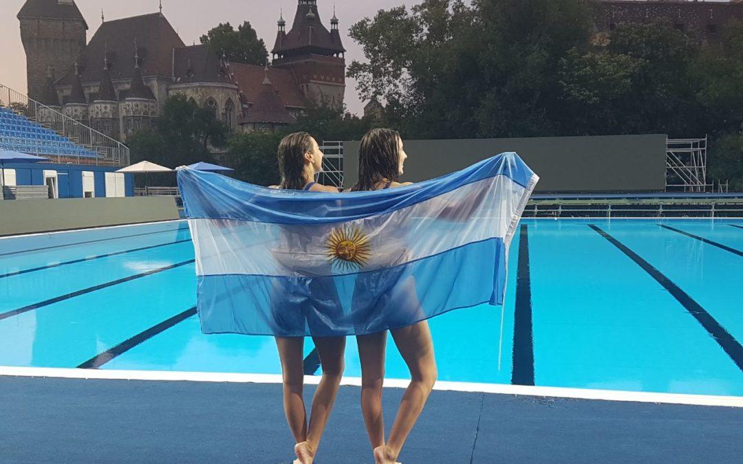 El nado sincronizado debutó en Budapest