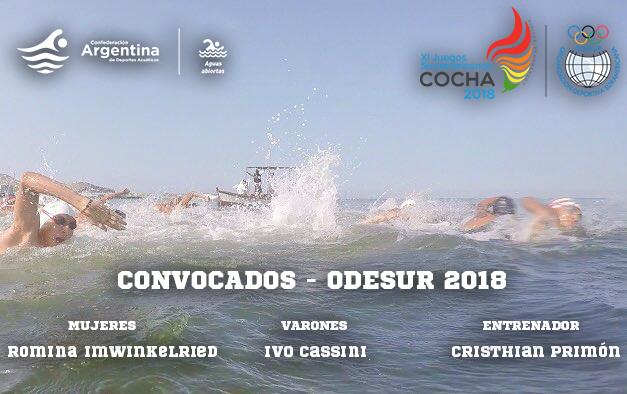 CONVOCADOS DE AGUAS ABIERTAS PARA LOS ODESUR 2018