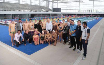 Fernando Terrilli estuvo presente en la inauguración de la pileta olímpica