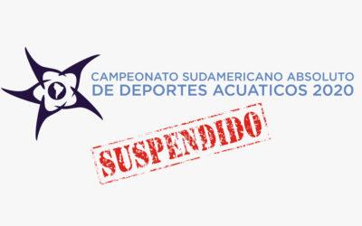 URGENTE: Se suspende el Sudamericano de Deportes Acuáticos