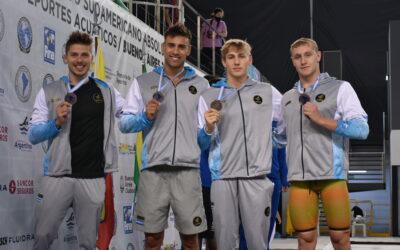 Podios de la Jornada 3 de la Natación en el Sudamericano de Deportes Acuáticos de Buenos Aires 2021