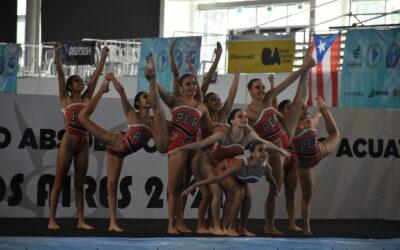 Jornada 4 de natación artística del Sudamericano de Deportes Acuáticos