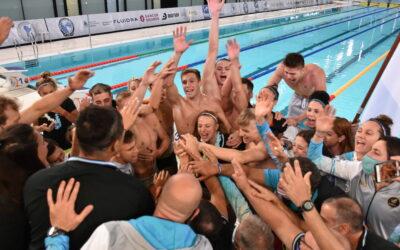Podios de la jornada 4 de natación en el Sudamericano de Deportes Acuáticos.