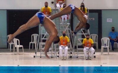 Jornada 2 de clavados del Sudamericano de Deportes Acuáticos.
